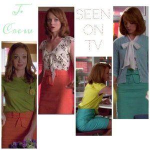 J.CREW Bow Pencil Skirt Pink Bubble Gum Cotton 2